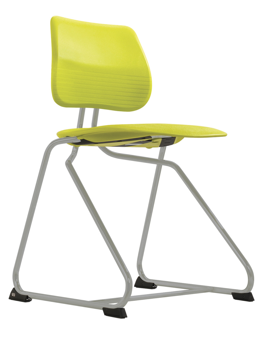 B1 Chair_Lime_Silver Pearl low front