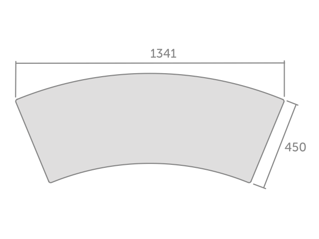 Concave Table Dimensions